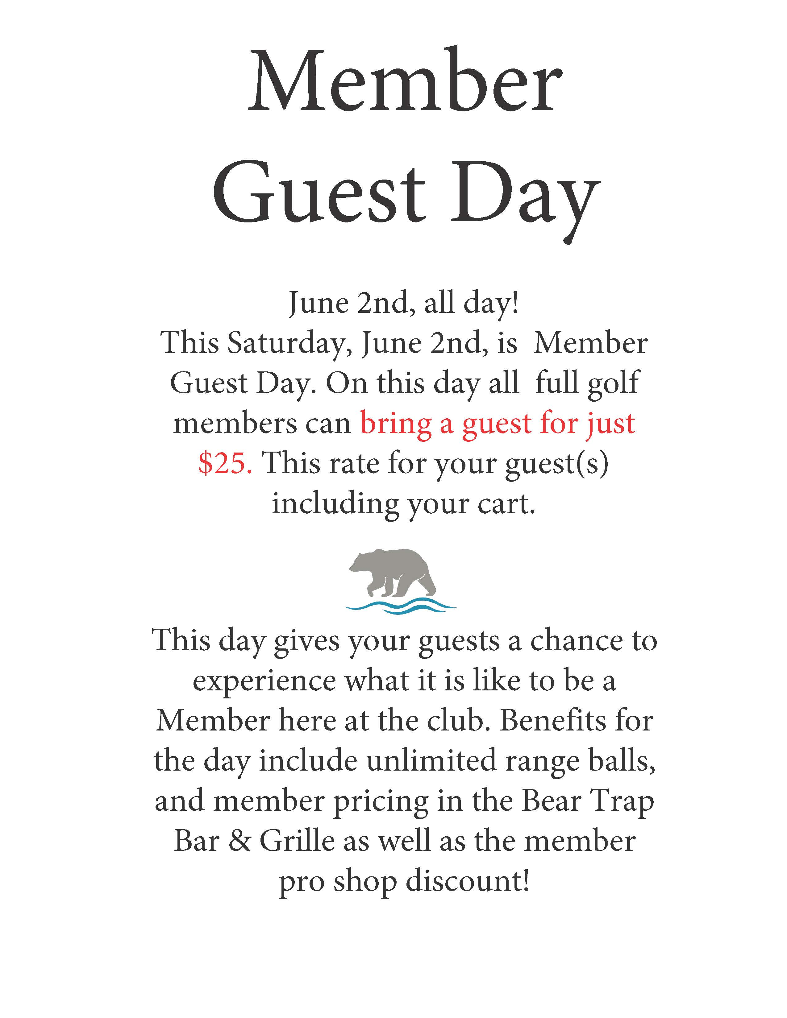 member guest day