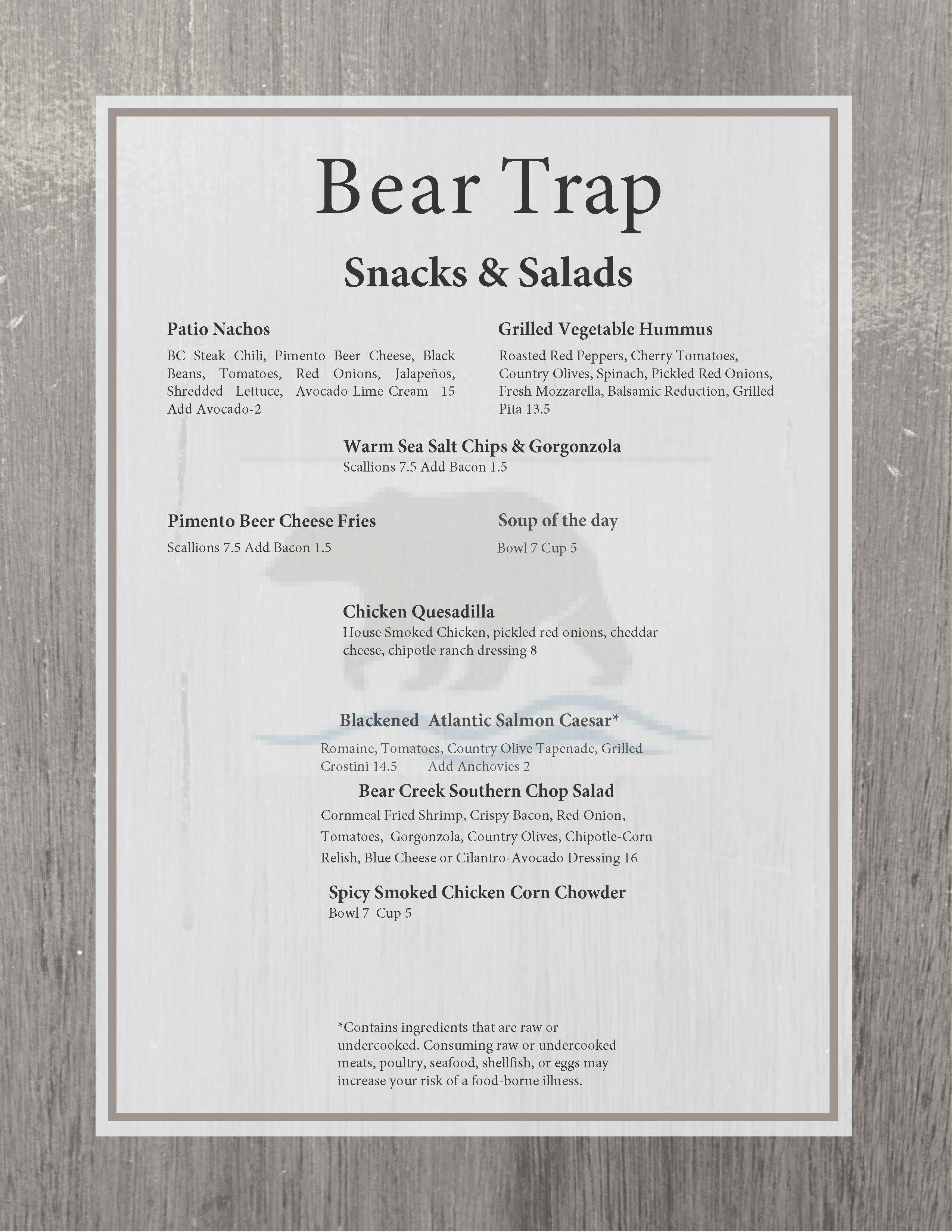 menu bear bar snacks edited